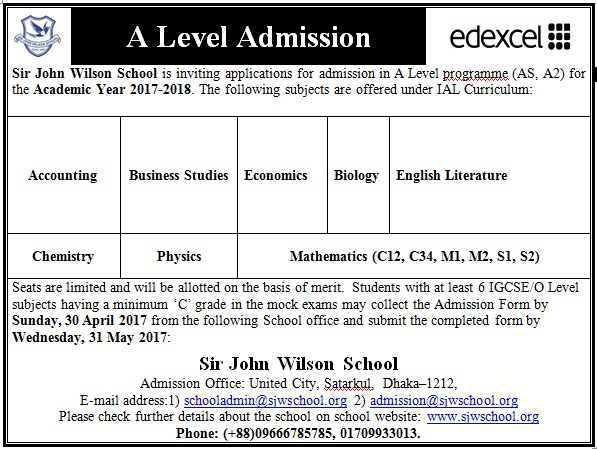 A level Admission
